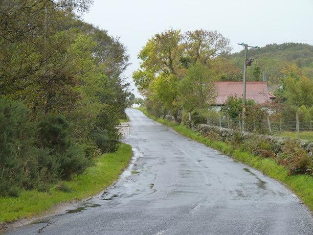 Road bend in Sannox