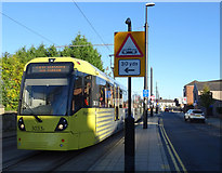 SD8912 : Metrolink tram on Maclure Road, Rochdale by JThomas