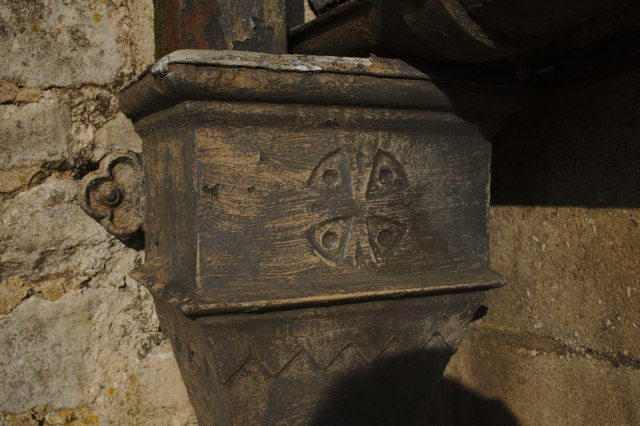 The Church of John the Baptist:  Decorative Downpipe