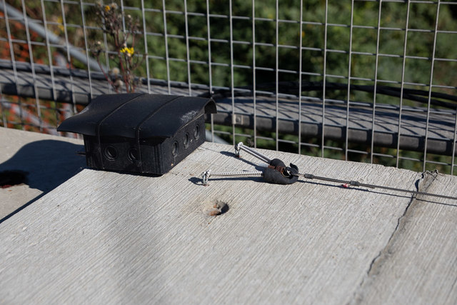 Structural monitoring equipment on old Romsey Road bridge