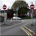 SS6595 : No Entry signs facing Siloh Road, Swansea by Jaggery