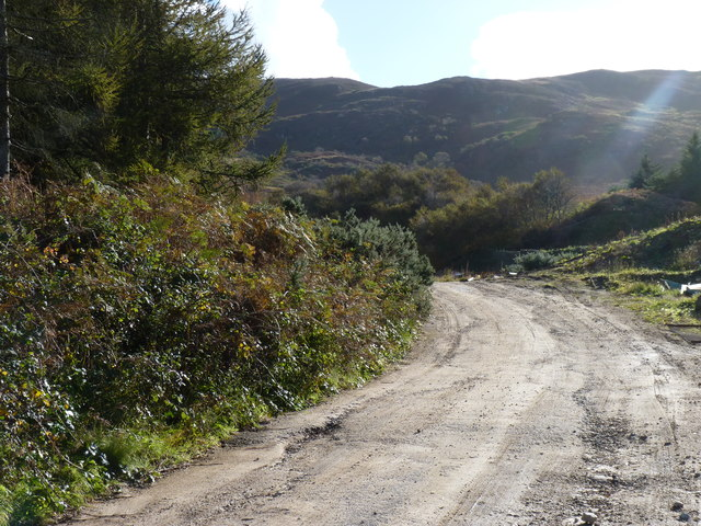 Access road to quarry
