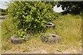 SO6865 : Dumped tyres by Richard Webb