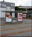 SS6695 : Adverts on a Neath Road bus shelter, Swansea by Jaggery