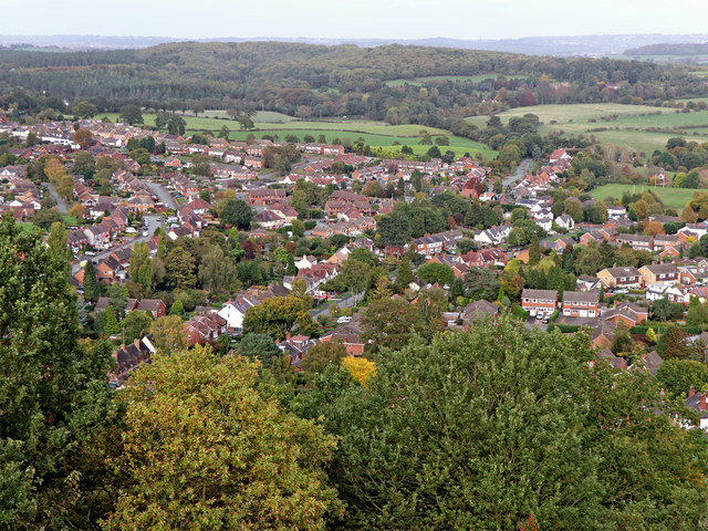 Kinver, seen from Kinver Edge in Staffordshire