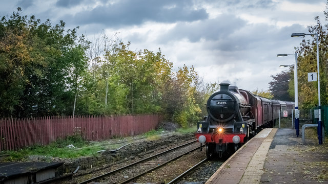 LMS Jubilee Class 45699 Galatea at Clitheroe