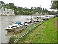 ST5394 : Chepstow, moorings by Mike Faherty