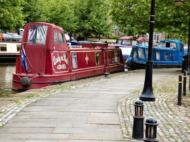 Narrowboats at Castlefield