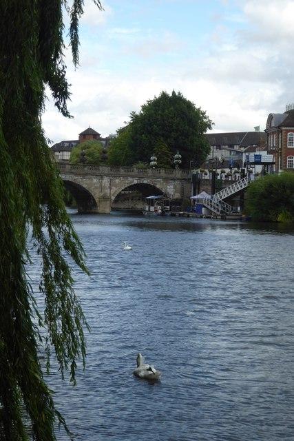 Welsh Bridge and Swan
