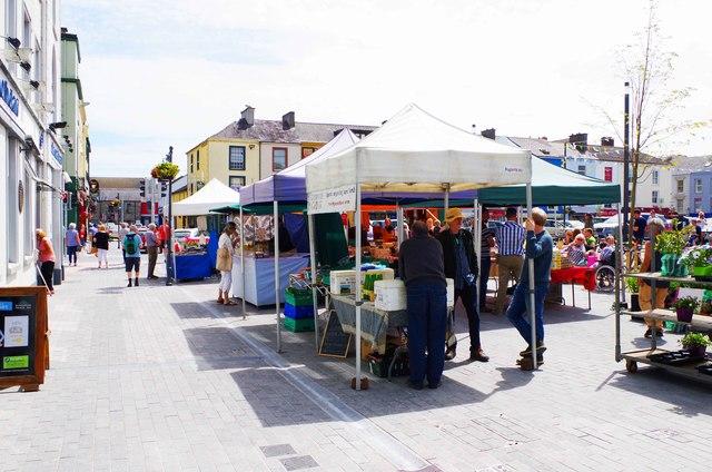 Market stalls in Grattan Square, Dungarvan, Co. Waterford