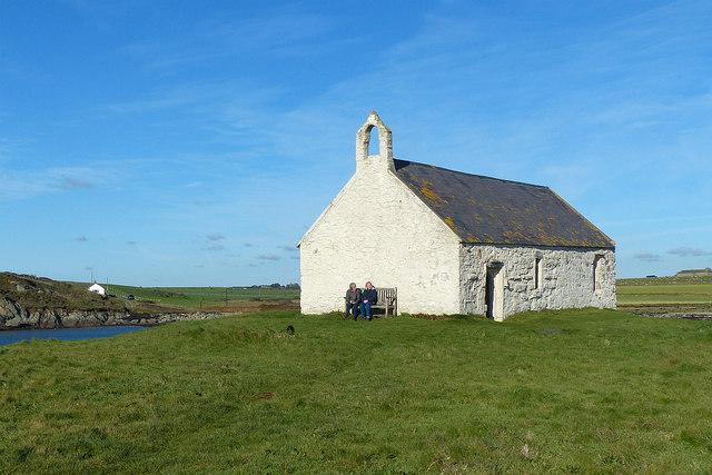 St Cwyfan's Church, Cribinau island, near Aberffraw, Anglesey