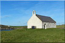 SH3368 : St Cwyfan's Church, Cribinau island, near Aberffraw, Anglesey by Robin Drayton