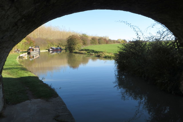 Grand Union Canal and narrowboats