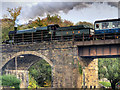 SD7915 : GWR 2857 Crossing Brooksbottoms Viaduct by David Dixon