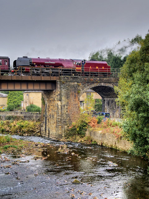 Duchess of Sutherland at Brooksbottoms Viaduct