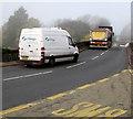 ST3490 : Alloga van on the B4596 in Caerleon by Jaggery
