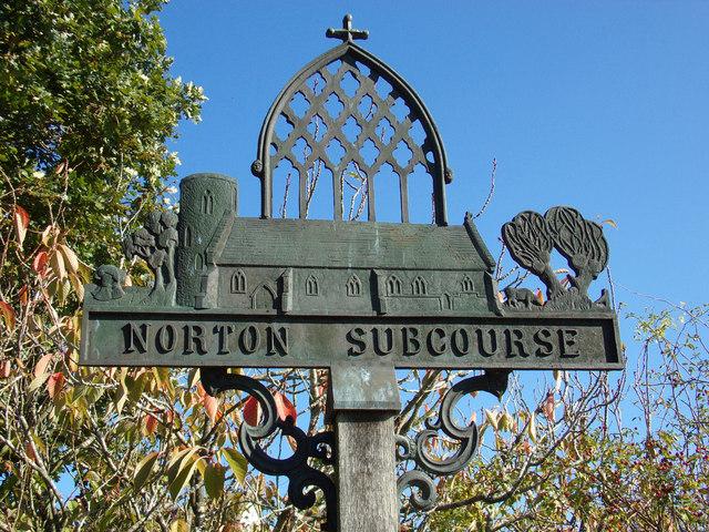 Norton Subcourse Village Sign