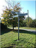 TM4098 : Signpost on Church Road by Adrian Cable