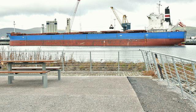 "The ""Nord Saturn"", Belfast harbour (October 2018)"
