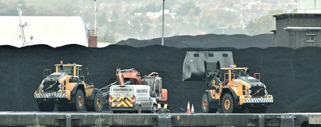 Coal, Stormont Wharf, Belfast (October 2018)