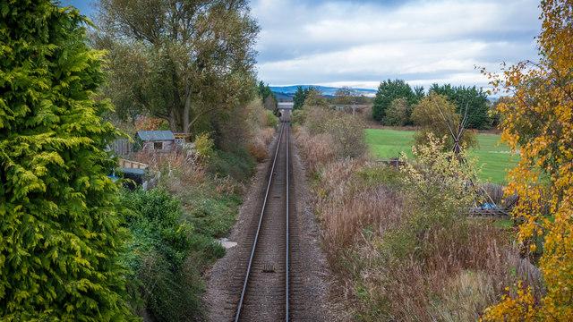 Railway at Maryburgh from footbridge