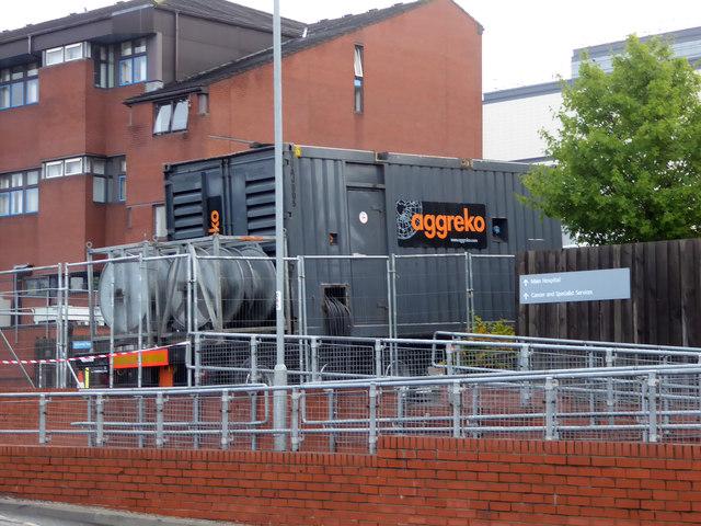 Derby Royal Hospital - portable generator