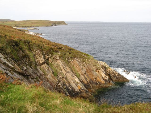 Gully with strata