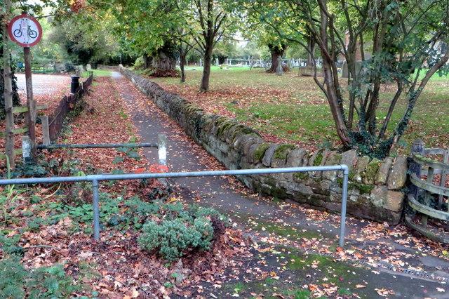 Footpath by the churchyard