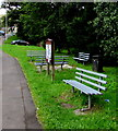 SS9386 : Roadside benches in Blackmill by Jaggery