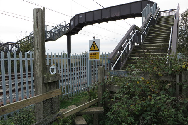 Footpath over the dangerous railway