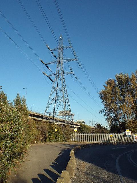 Electricity pylon in Dagenham