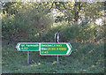 TM4192 : Roadsigns on the A143 Yarmouth Road by Adrian Cable