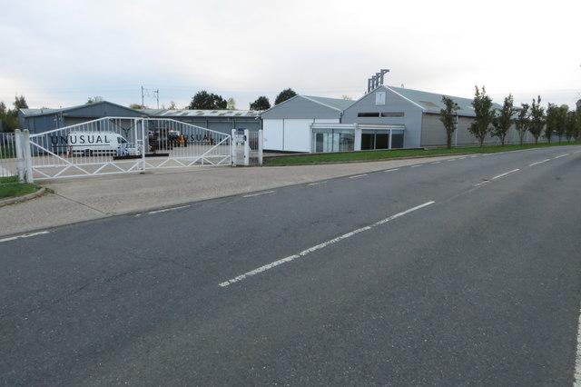Unusual gates on an industrial unit