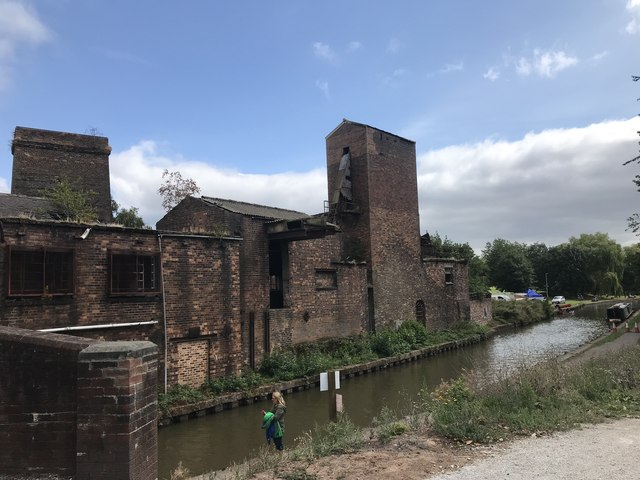 Buildings alongside the Trent and Mersey Canal