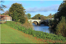 SE4843 : Tadcaster Bridge from the South by Chris Heaton