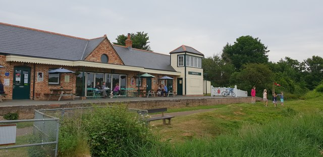 Yarmouth railway station in 2018