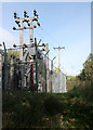 NC5707 : Transformer and power lines by Richard Sutcliffe