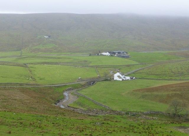 Trough Sike flows past Force Foot farm