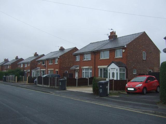 Semi detached houses on Collins Road, Bamber Bridge