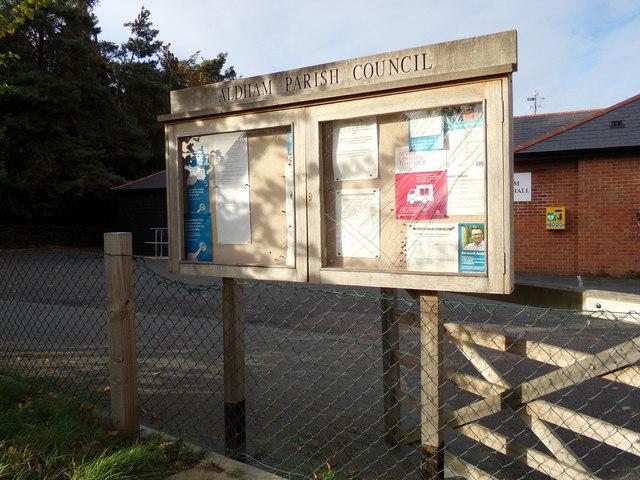 Aldham Parish Council Notice Board