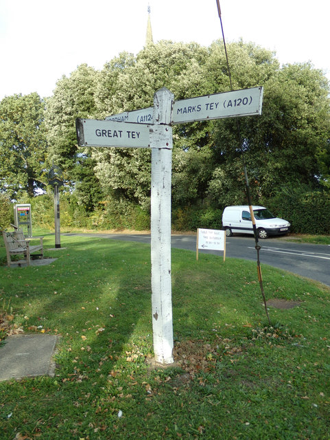 Signpost on New Road