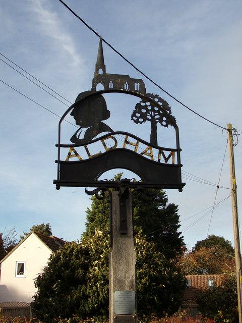 Aldham Village sign