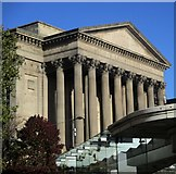SJ3490 : Bus stop in front of St George's Hall by Ceri Thomas