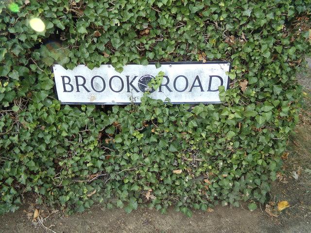 Brook Road sign