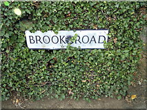 TL9125 : Brook Road sign by Geographer