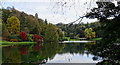 ST7734 : Another view east across the lake, Stourhead by Brian Robert Marshall