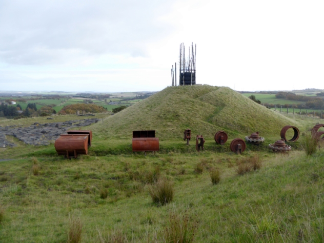 Landscaped Hillock at St Ninian's Open Cast Mine, Kingseat