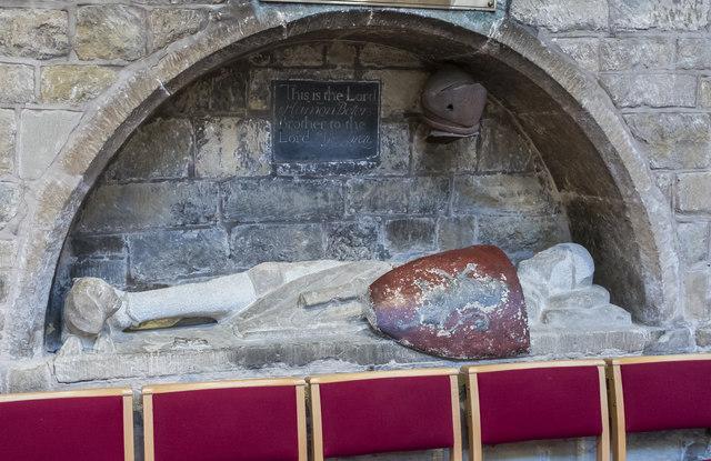 Crusader effigy, St Mary's church, Melton Mowbray