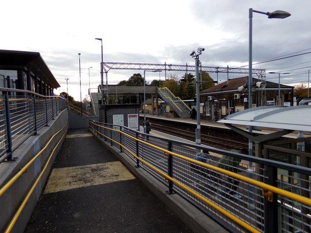 Walkway at Marks Tey Railway Station