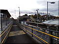 TL9123 : Walkway at Marks Tey Railway Station by Adrian Cable